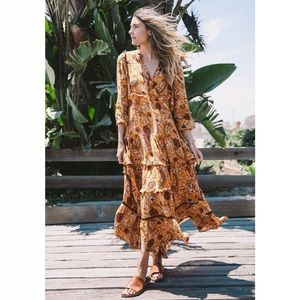 Spell & The Gypsy Etienne Maxi Dress Sienna Small